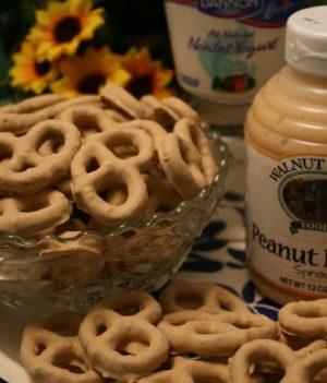 Peanut Butter Yogurt Pretzels