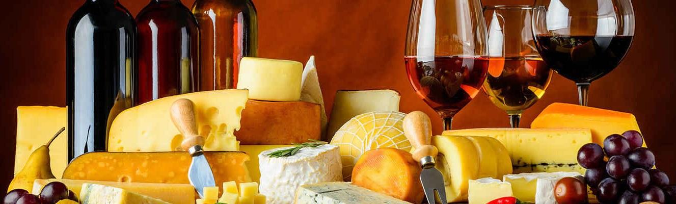 Wine cheese banner