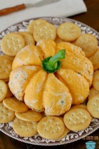 Fall Recipe: Pumpkin Shaped Cheese Ball