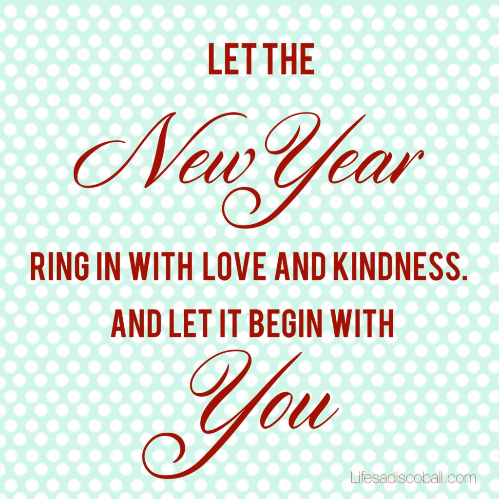 Set Intentions of Kindness for a Bright New Year!