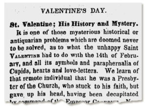 Valentine's Day- A Brief History